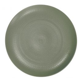 Assiette coupe plate ronde terre_d_ombre grès Ø 28 cm Modulo Nature Degrenne