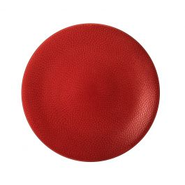 Assiette coupe plate ronde rouge grès Ø 27,50 cm Stone Medard De Noblat