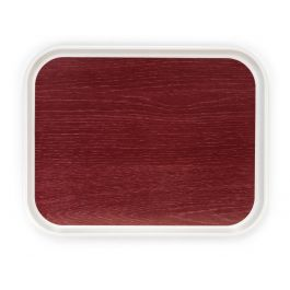 Plateau rouge polyester bord droit Poly Styl Platex