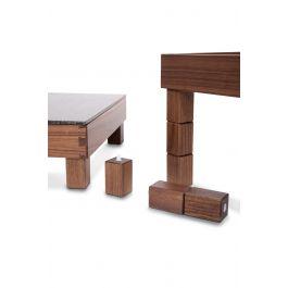 Pied pour présentoir buffet carré brun bois 6 l 3 cm Nature Zepe (12 pièces)