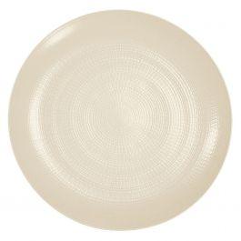 Assiette coupe plate rond kaolin grès Ø 28 cm Modulo Nature Degrenne