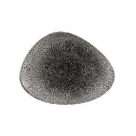 Assiette plate triangulaire quartz porcelaine 20x26 cm Raku Churchill