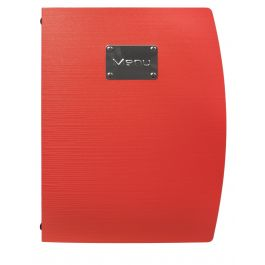 Protège-menu rectangulaire rouge 4 vues Rio Securit