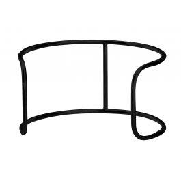 Support bas rond noir acier Ø 25 cm Evento Degrenne