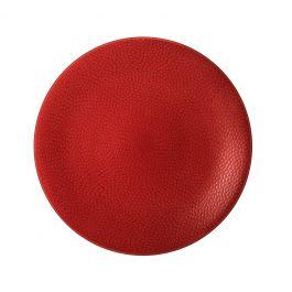 Assiette coupe plate ronde rouge grès Ø 29 cm Stone Medard De Noblat