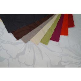 Nappe carrée vanille polyester 180x180 cm Fleur De Lys Sonolys
