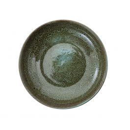 Assiette creuse ronde verte grès Ø 22 cm Sky Pro.mundi