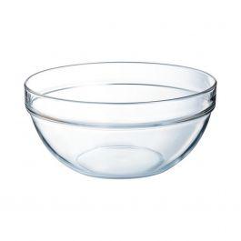 Saladier rond transparent verre 6 l Ø 29 cm Empilable Arcoroc