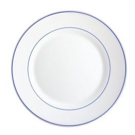 Assiette plate ronde blanc verre Ø 23,50 cm Restaurant Blanc Arcoroc