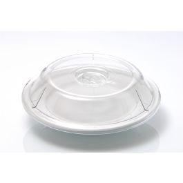 Couvre assiette rond transparent plastique Ø 23,80 cm