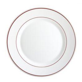 Assiette plate ronde bordeaux verre Ø 19 cm Restaurant Filet Bordeaux Arcoroc