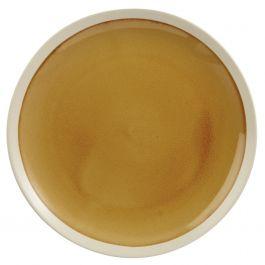 Assiette plate ronde jaune grès Ø 22 cm Winter Pro.mundi