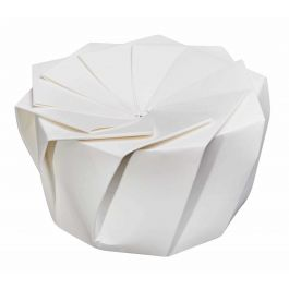 Boîte traiteur ronde blanc Ø 12 cm 650 ml Lotus Lelu (100 pièces)