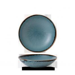 Assiette coupe creuse ronde bleue porcelaine Ø 18,20 cm Harvest Dudson