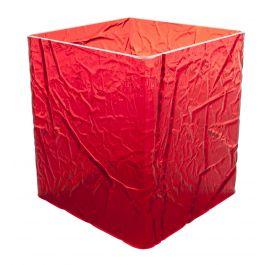 Cube carré rouge plastique 15 cm Acrylic3 Platex