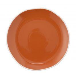 Assiette coupe plate ronde terracotta porcelaine Ø 21 cm Rim Pro.mundi