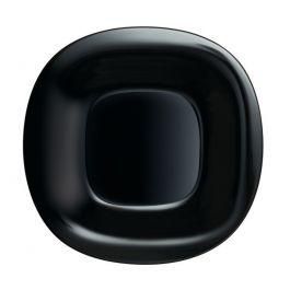 Assiette plate carrée noire verre 28,80x28,80 cm Carine Luminarc