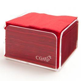 Serviette rouge ouate de cellulose 20x20 cm Celi Ouate Cgmp (50 pièces)