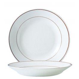 Assiette creuse ronde bordeaux verre Ø 22,50 cm Restaurant Filet Bordeaux Arcoroc