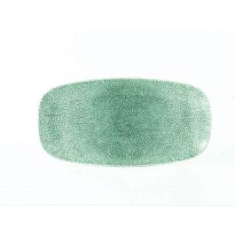 Assiette plate rectangulaire topaze porcelaine 15,30x29,80 cm Raku Churchill