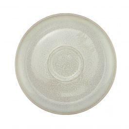Sous tasse ronde blanc grès Ø 14 cm Pearl Pro.mundi