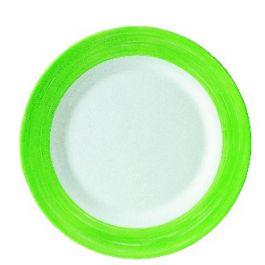Assiette plate ronde verte verre Ø 15,50 cm Brush Arcoroc