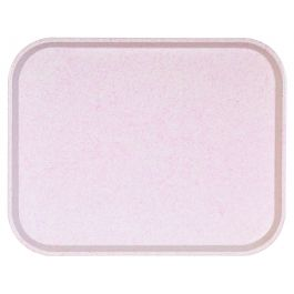 Plateau rose polyester bord droit Poly One Platex