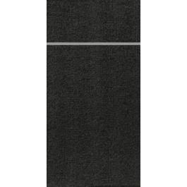 Pochette noire non tissé 33x40 cm Duniletto Duni (65 pièces)