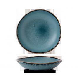 Assiette creuse ronde bleue porcelaine Ø 26,40 cm Harvest Dudson
