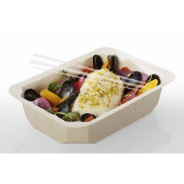 Barquette rectangulaire beige 13,70x19,20 cm 75 cl Barquettes Food Alphaform (65 pièces)