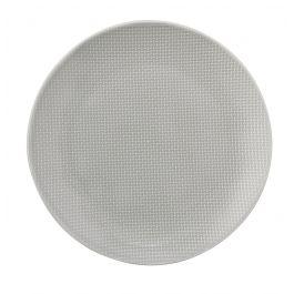 Assiette coupe plate ronde gris grès Ø 20 cm Linen Vaisselle Pro.mundi