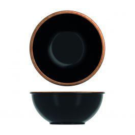Saladier rond noir mélamine 3,20 l Ø 26,50 cm Utah Copper Creative Display