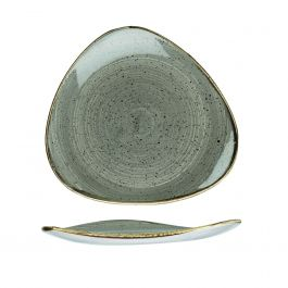 Assiette plate triangulaire pepper porcelaine 26,50x26,50 cm Stonecast Churchill