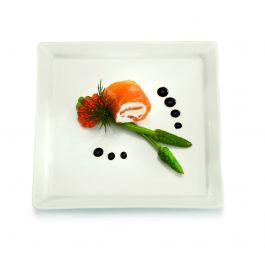 Assiette plate carré ivoire 24 cm x 24 cm Classic Gourmet Rak
