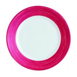Assiette plate ronde cherry verre Ø 15,50 cm Brush Arcoroc