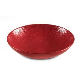 Assiette coupe creuse ronde rouge grès Ø 25 cm Stone Medard De Noblat