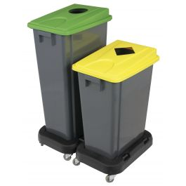 Couvercle vert plastique 32,80x45,30 cm Tri Selectif Probbax