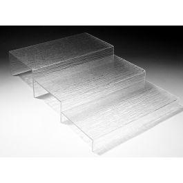 Escalier rectangulaire transparent plastique 40 cm Pap Platex