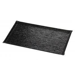 Plat de présentation rectangulaire noir plastique 53 cm Pap Glace Platex
