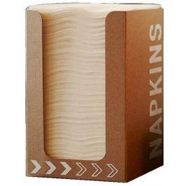 Distributeur de serviettes blanc 20x20 cm Airlaid Duni (100 pièces)