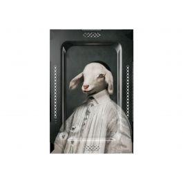 Plateau l'agneau rectangulaire 62 cm Portrait Ibride