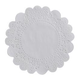 Dentelle ronde blanc Ø 10 cm (250 pièces)