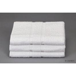 Sachet 3 drap de bain blanc 70x140 cm Cuba Deren (3 pièces)