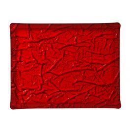 Plateau rectangulaire rouge plastique 37 cm Acrylic3 Platex