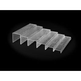 Plat de présentation plastique 18x40 cm Pap Platex