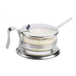 Fromagère avec couvercle et cuillère ronde transparente 7 cm Pro.mundi