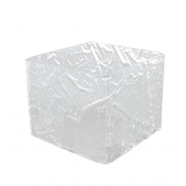Cube carré transparent plastique 15 cm Acrylic3 Platex