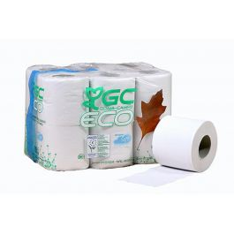 Papier toilette en rouleau blanc ouate de cellulose 18 m (12 pièces)