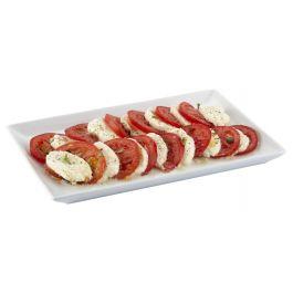 Assiette plate rectangulaire blanc porcelaine 13 cm x 21 cm Edina Pro.mundi