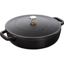 Sauteuse noire fonte d'acier Ø 24 cm 2,40 l Chistera Staub